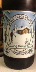 Grand Teton Coming Home Holiday Ale 2013