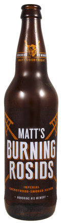 Stone Matt's Burning Rosids Imperial Cherry Wood Smoked Saison
