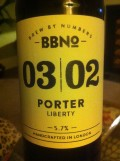 Brew By Numbers 03/02 Porter - Liberty