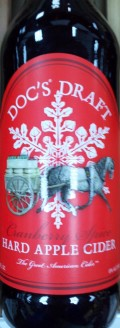 Doc's Draft Cranberry Spice Hard Apple Cider