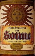 Brauerei zur Sonne Zwickel