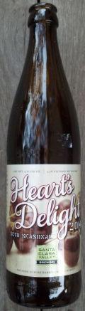Santa Clara Valley Brewing Heart's Delight 2014 (Cherries)