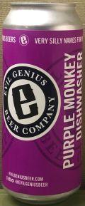 Evil Genius Purple Monkey Dishwasher