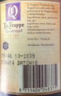 La Trappe Quadrupel Oak Aged Batch #18