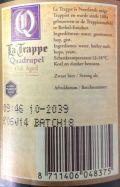 La Trappe Quadrupel Oak Aged Batch #18