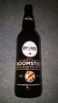 No Label Off Label Boomstick Double Black Rye IPA