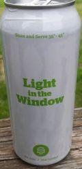 Burlington Beer Light in the Window