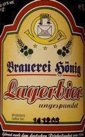 Hönig Lagerbier Ungespundet