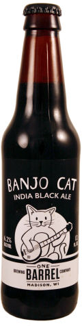 One Barrel Banjo Cat India Black Ale