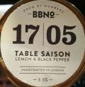 Brew By Numbers 17/05 Table Saison - Lemon & Black Pepper