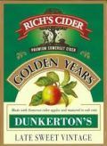 Richs Cider Golden Years Dunkerton's Late Sweet Vintage