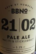 Brew By Numbers 21/02 Pale Ale - Wai-iti & Sticklebract
