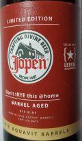 Jopen / Lervig Don't tRYE This @home!! BA Linie Aquavit