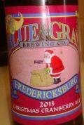 Blue & Gray Christmas Cranberry Ale