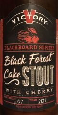 Victory Blackboard Series #7 Black Forest Cake Stout with Cherry