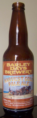 Barley Days Harvest Gold Pale Ale