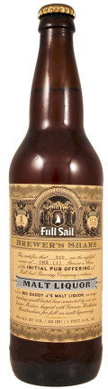 Full Sail Brewer's Share Big Daddy Js Malt Liquor