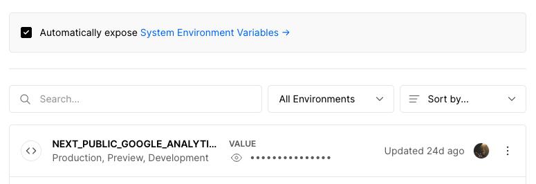 Vercel Environment Variables