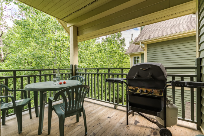 Tremblant Les Eaux 201-5 - Private Patio with Grill