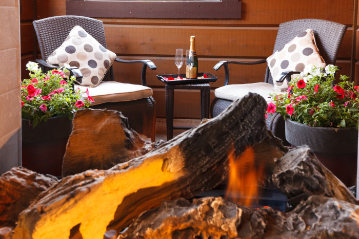 White Buffalo Club Fireplace Suite