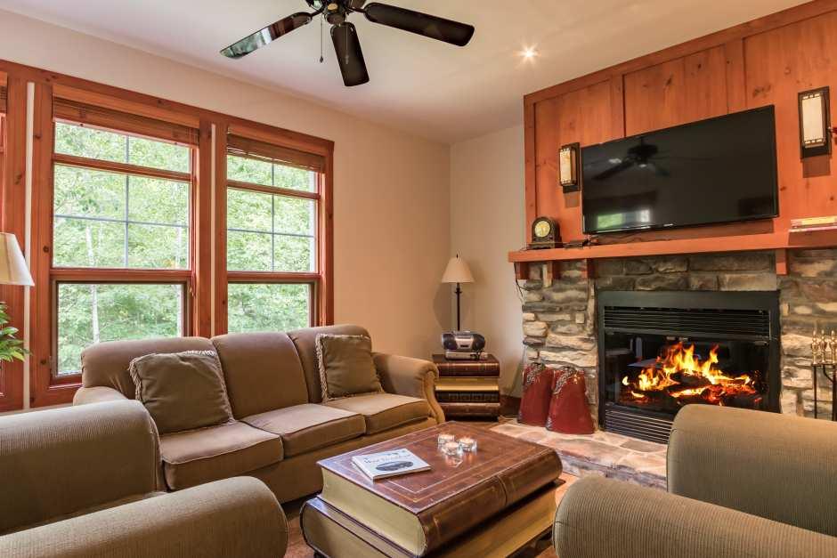 Tremblant Les Eaux 205-4 - Living Room