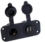 Strømuttak 12V og USB
