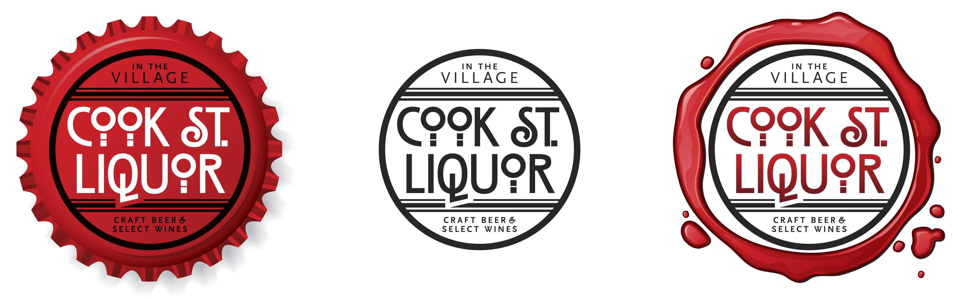 Cook Street Liquor logo family