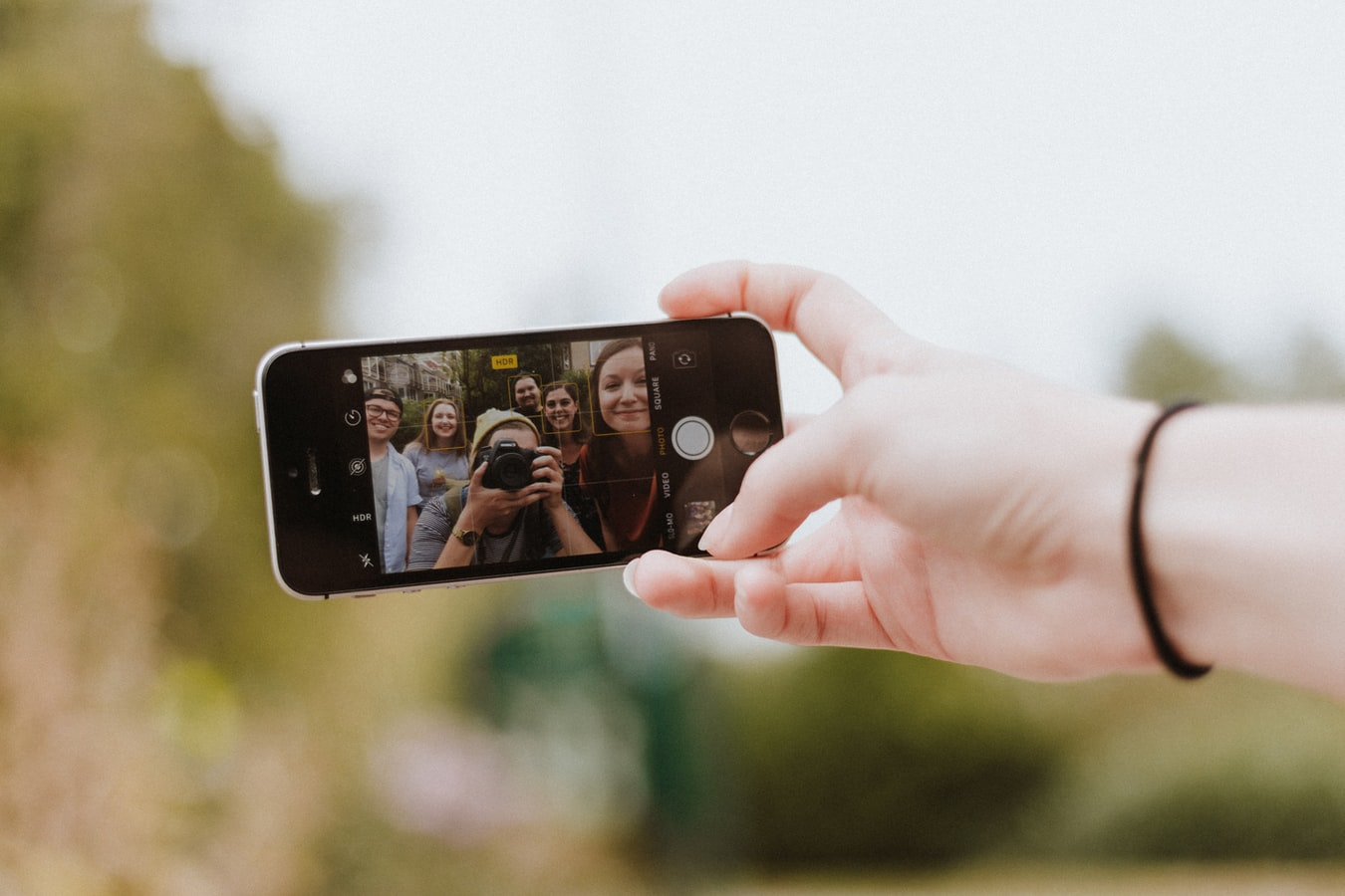 teenagers taking a photo
