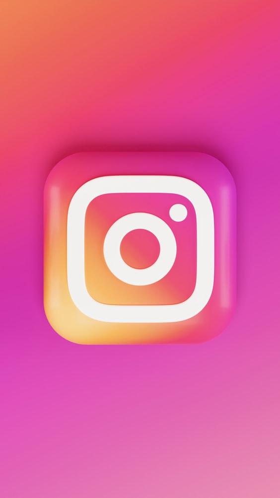 instagram logo 3d