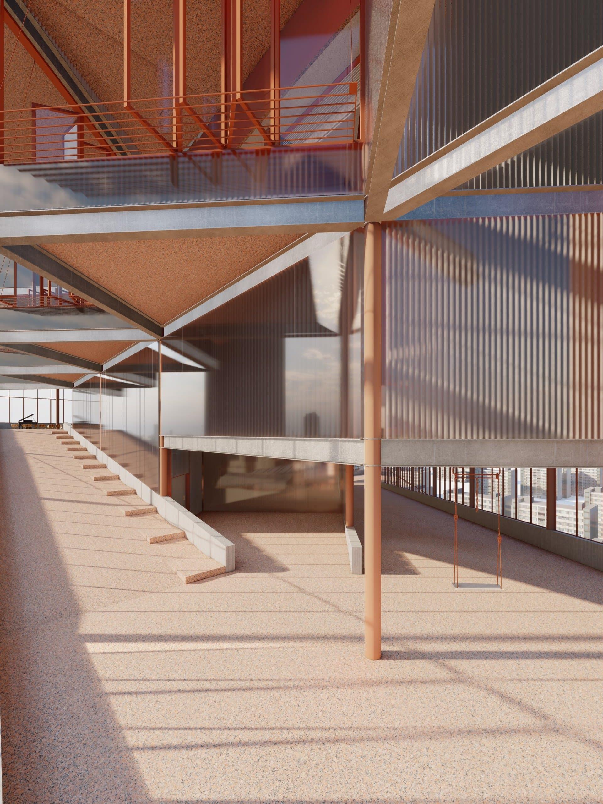 Interlocking of Vertical Spaces