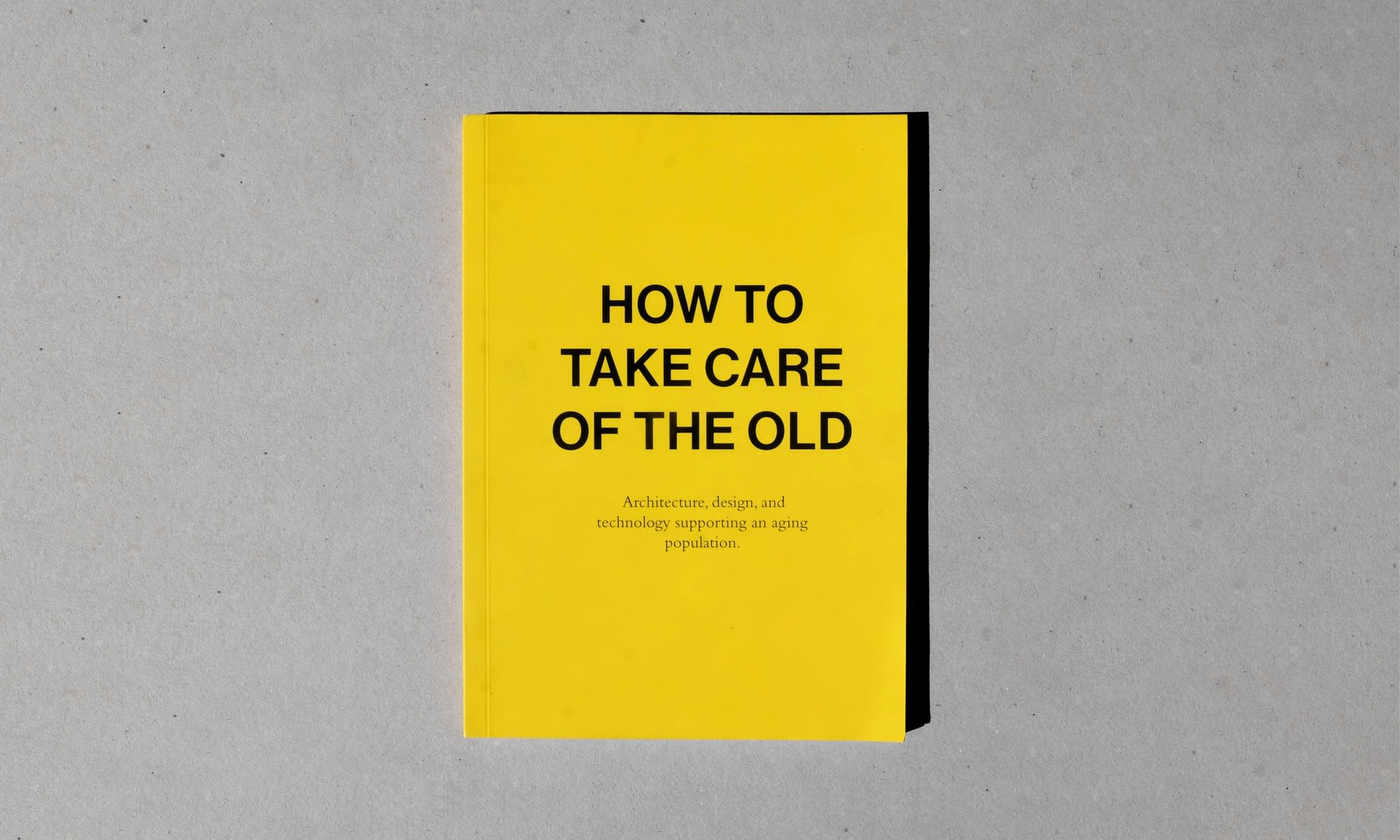 How to take care of the old: Cover - (21 x 14.8 cm)*