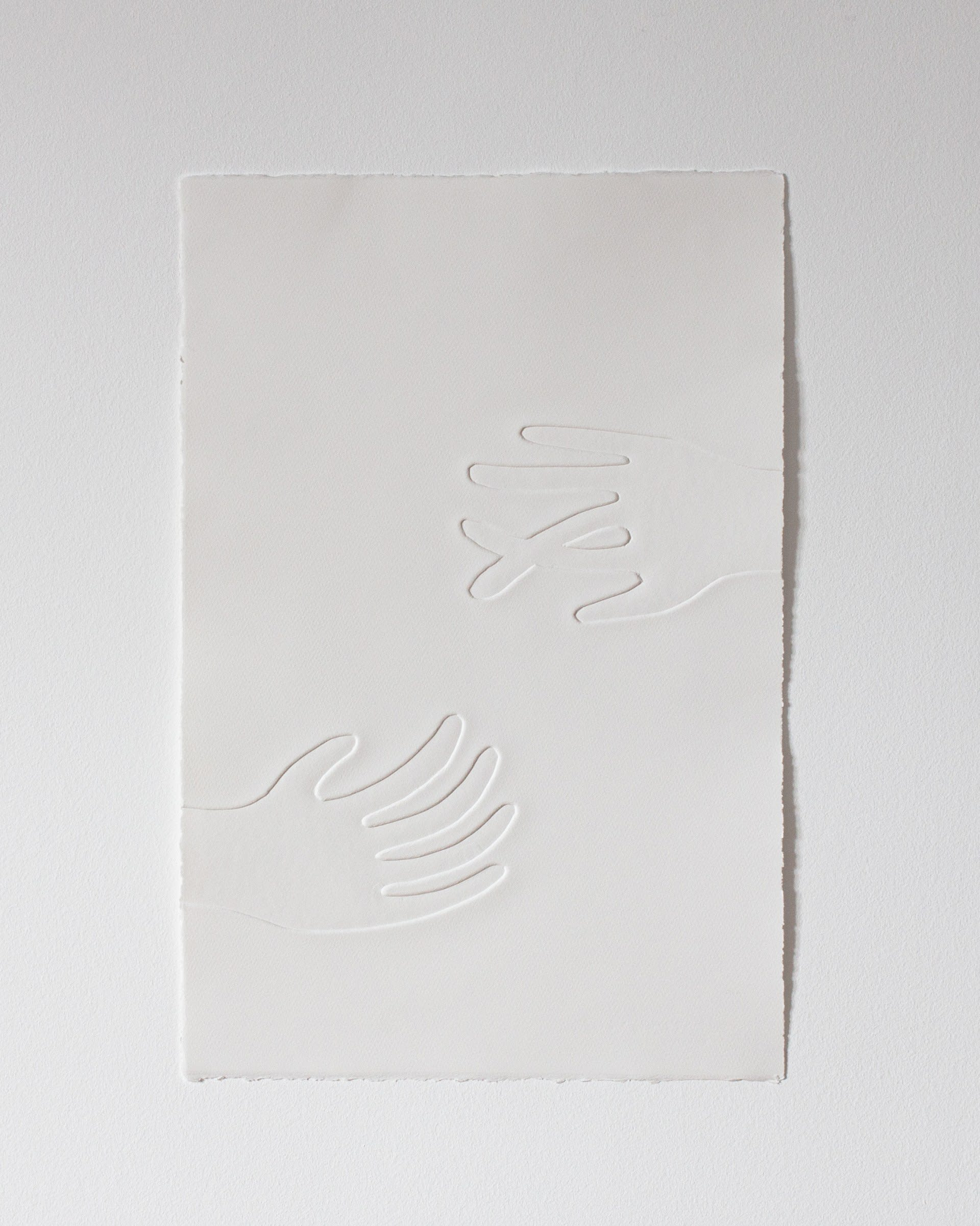Untitled (two hands on paper)