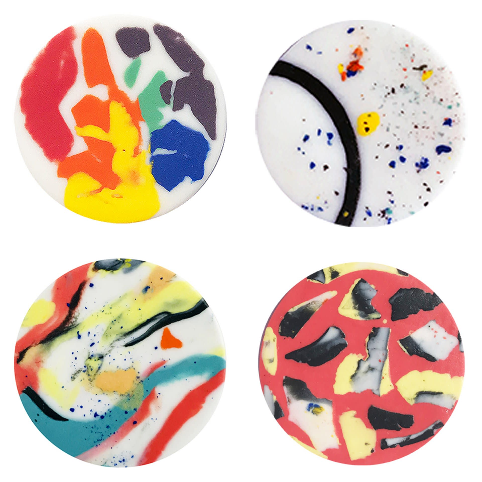 Parian clay sample disks