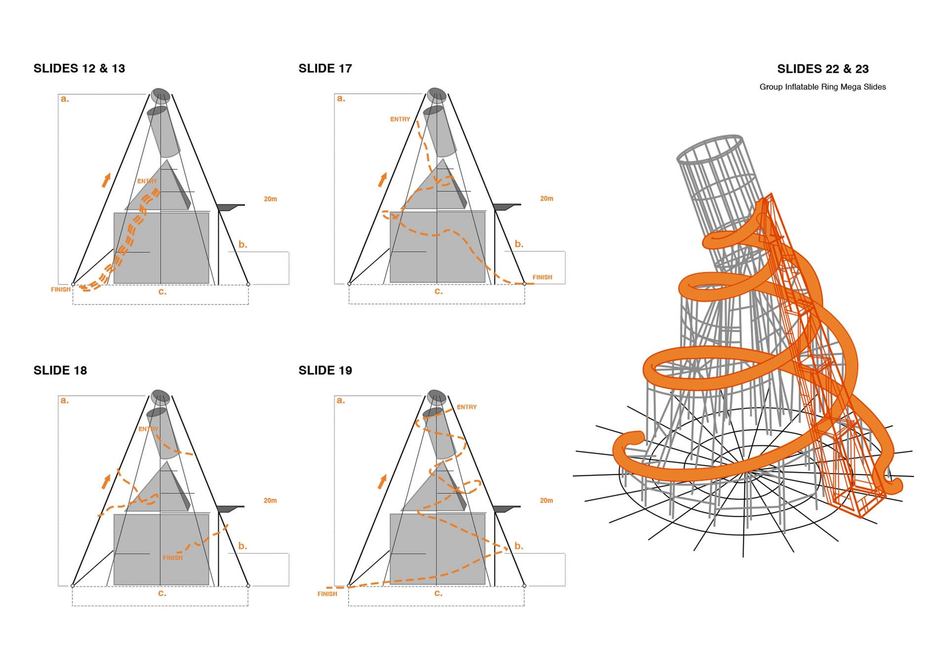 Lacuna Tower - Waterslide Elevations