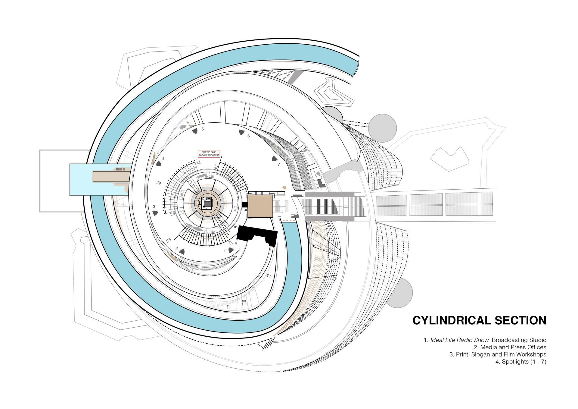 Lacuna Tower - Cylindrical Section Floor Plan