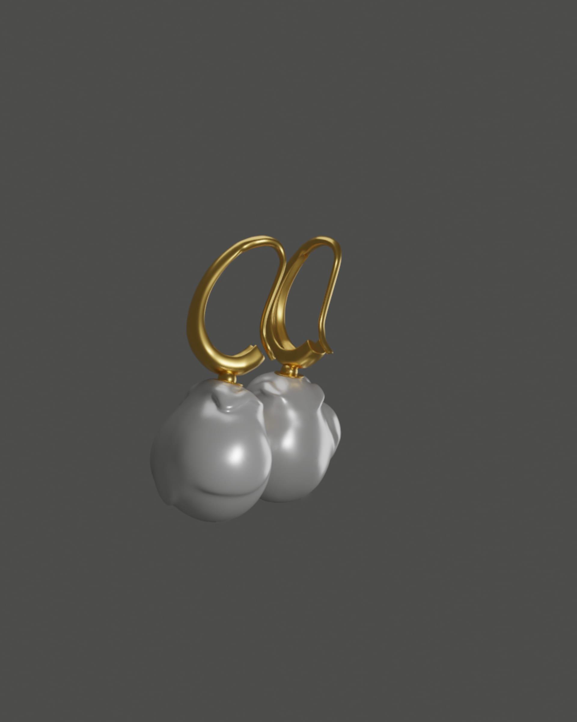 turkey pearl earrings
