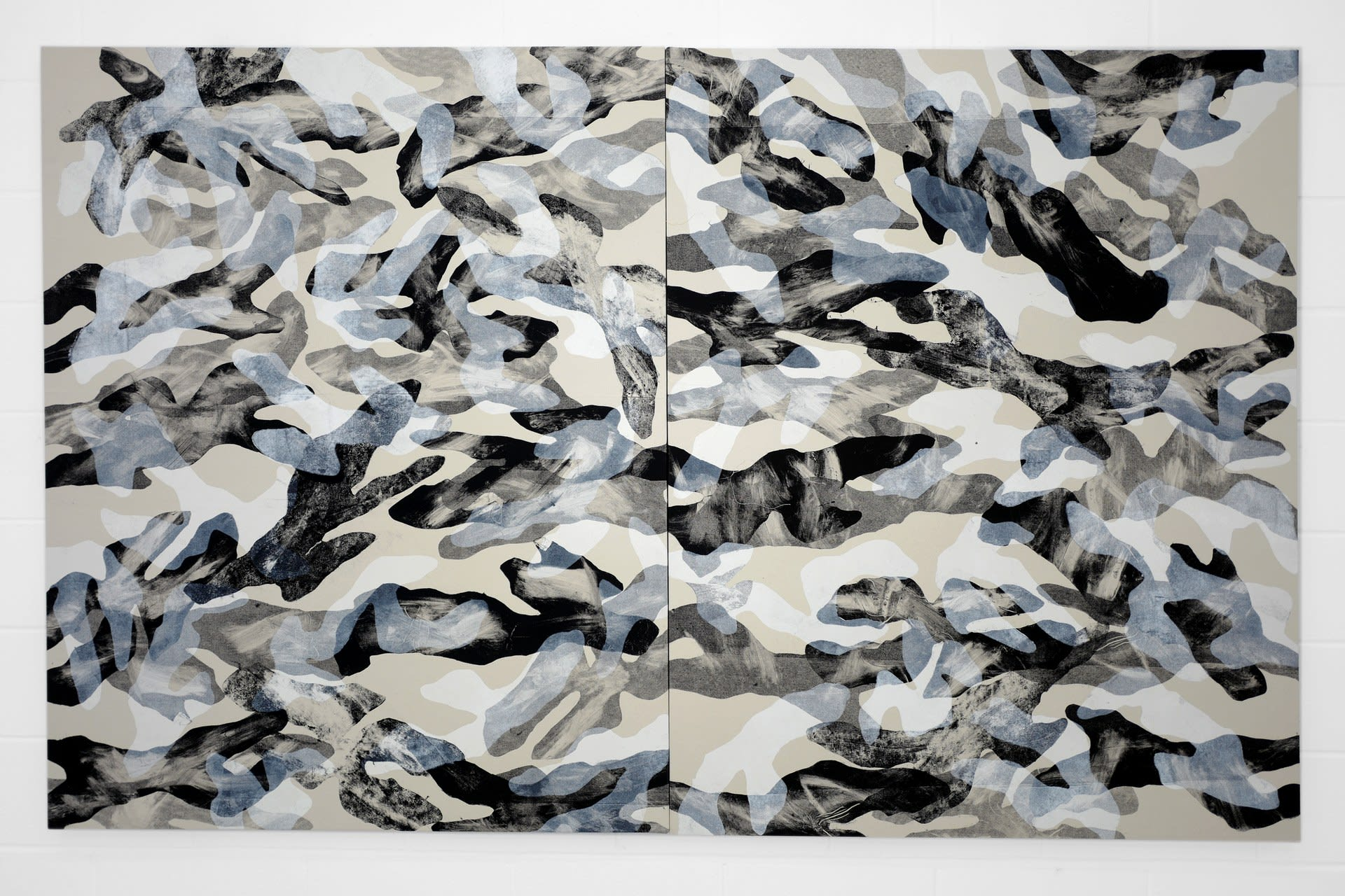 Camouflage 2020, Oil on Canvas, 260 x 160 cm