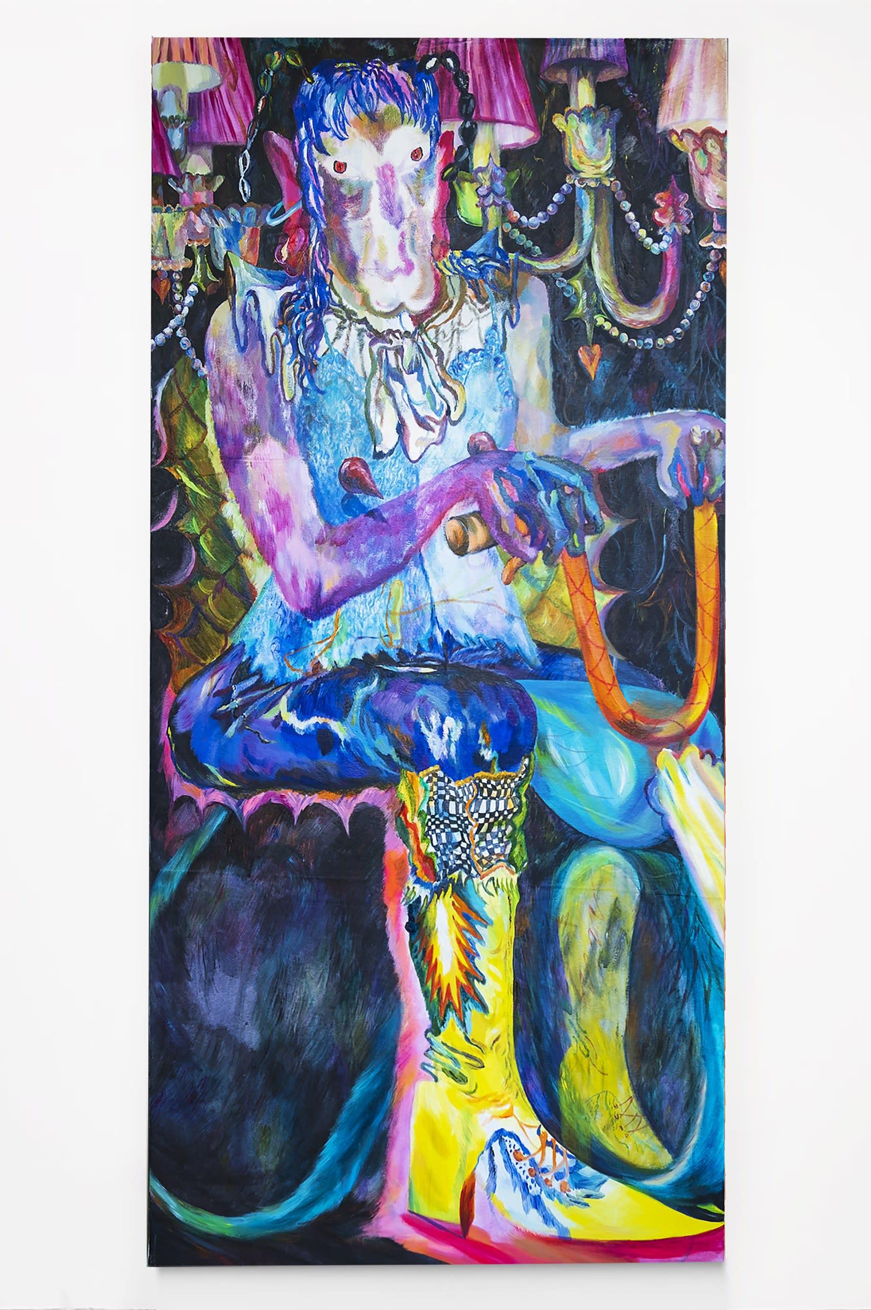 Du Du Du Du, 2020, oil and acrylic on canvas, 163 x 78 cm