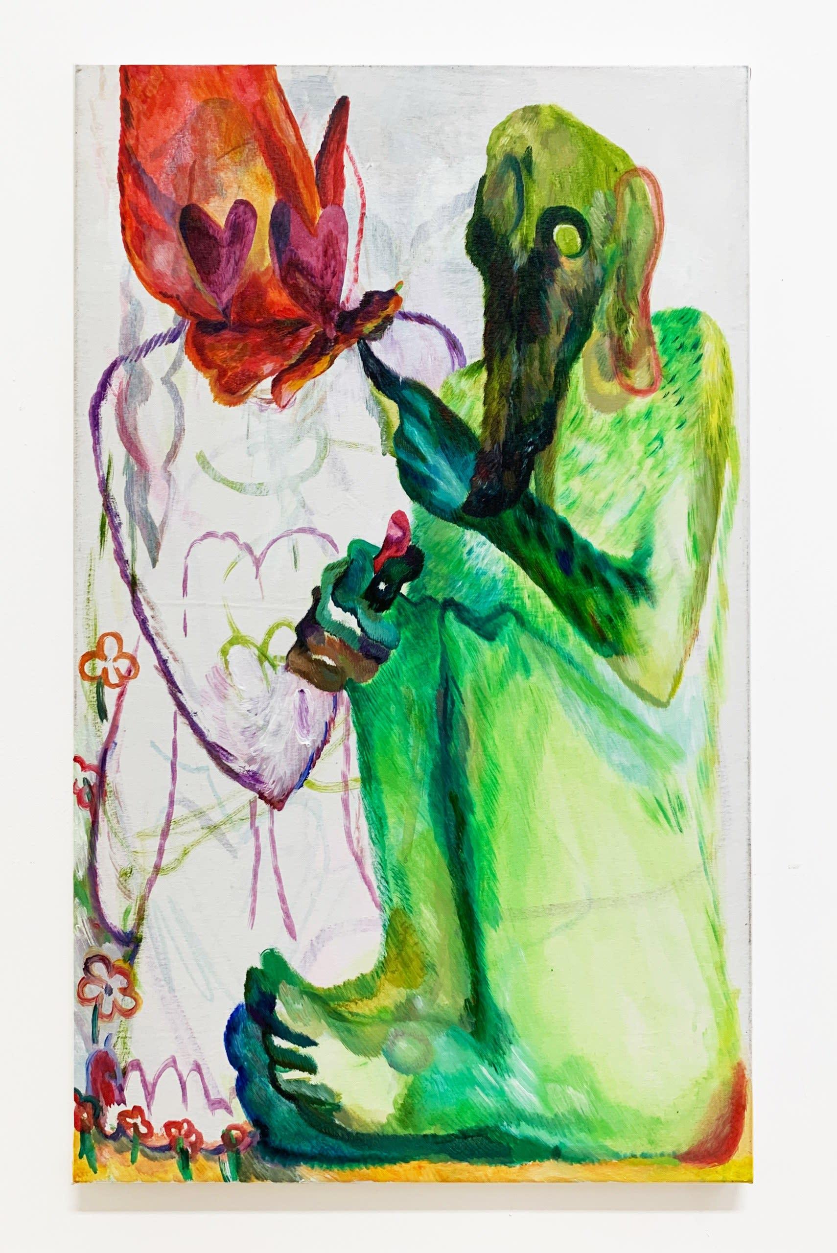Come closer, 2019, acrylic on canvas, 100 x 60 cm