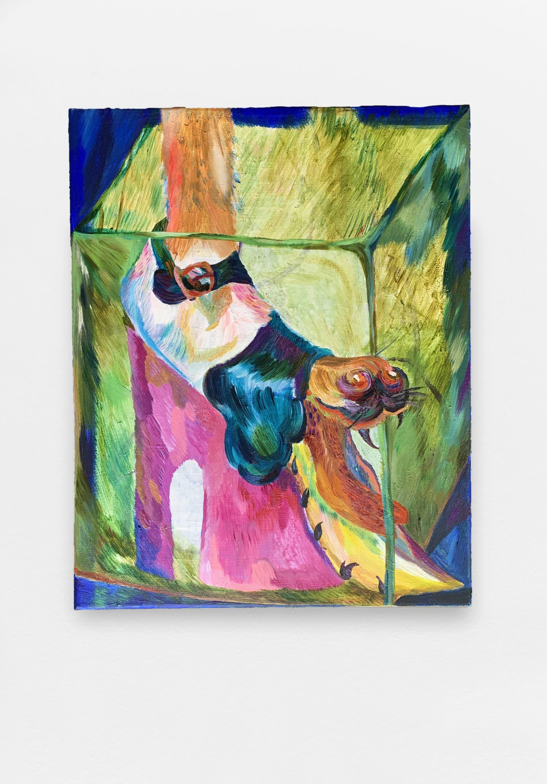 Kafka in my Marc Jacobs, 2020, acrylic on canvas, 50 x 40 cm