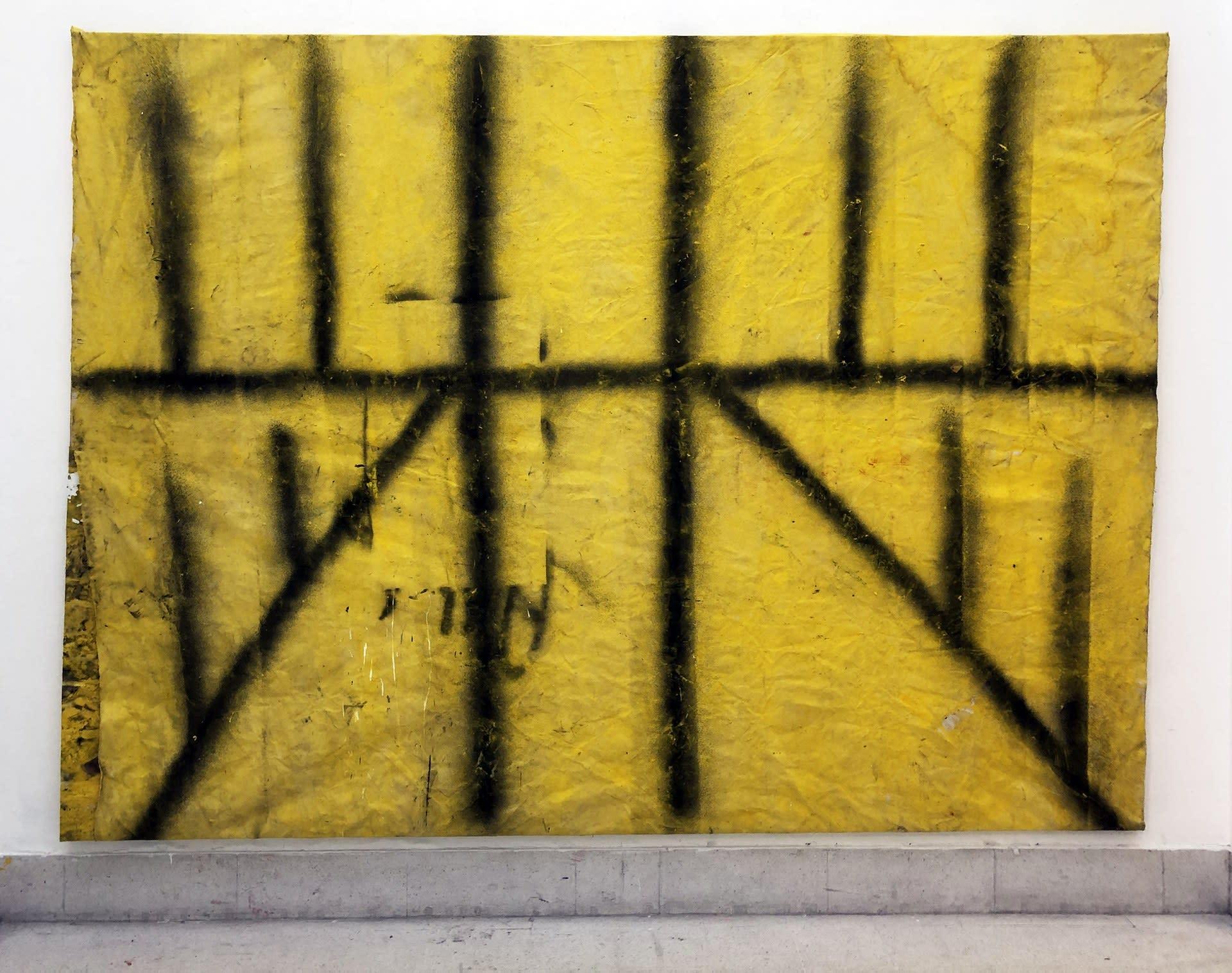 Twin Poles on Yellow (Field)