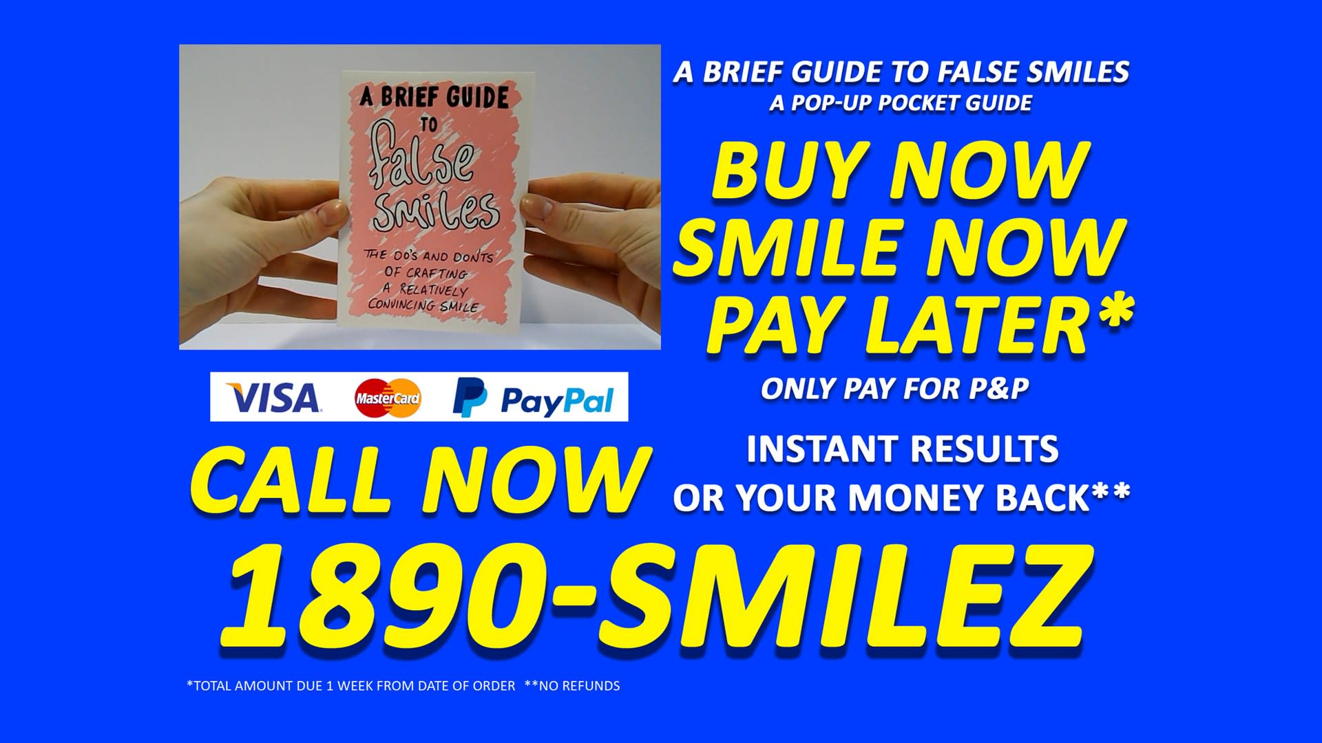 Buy Now, Smile Now, Pay Later (still)