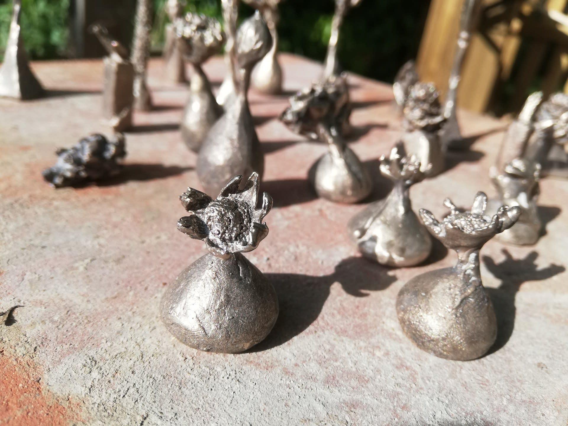 Raw bronze pieces