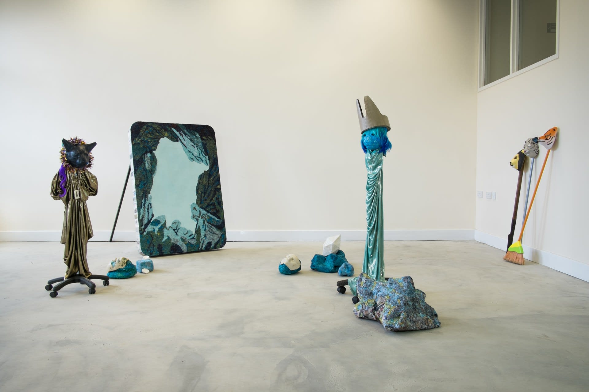 Install _ with paper mache painting