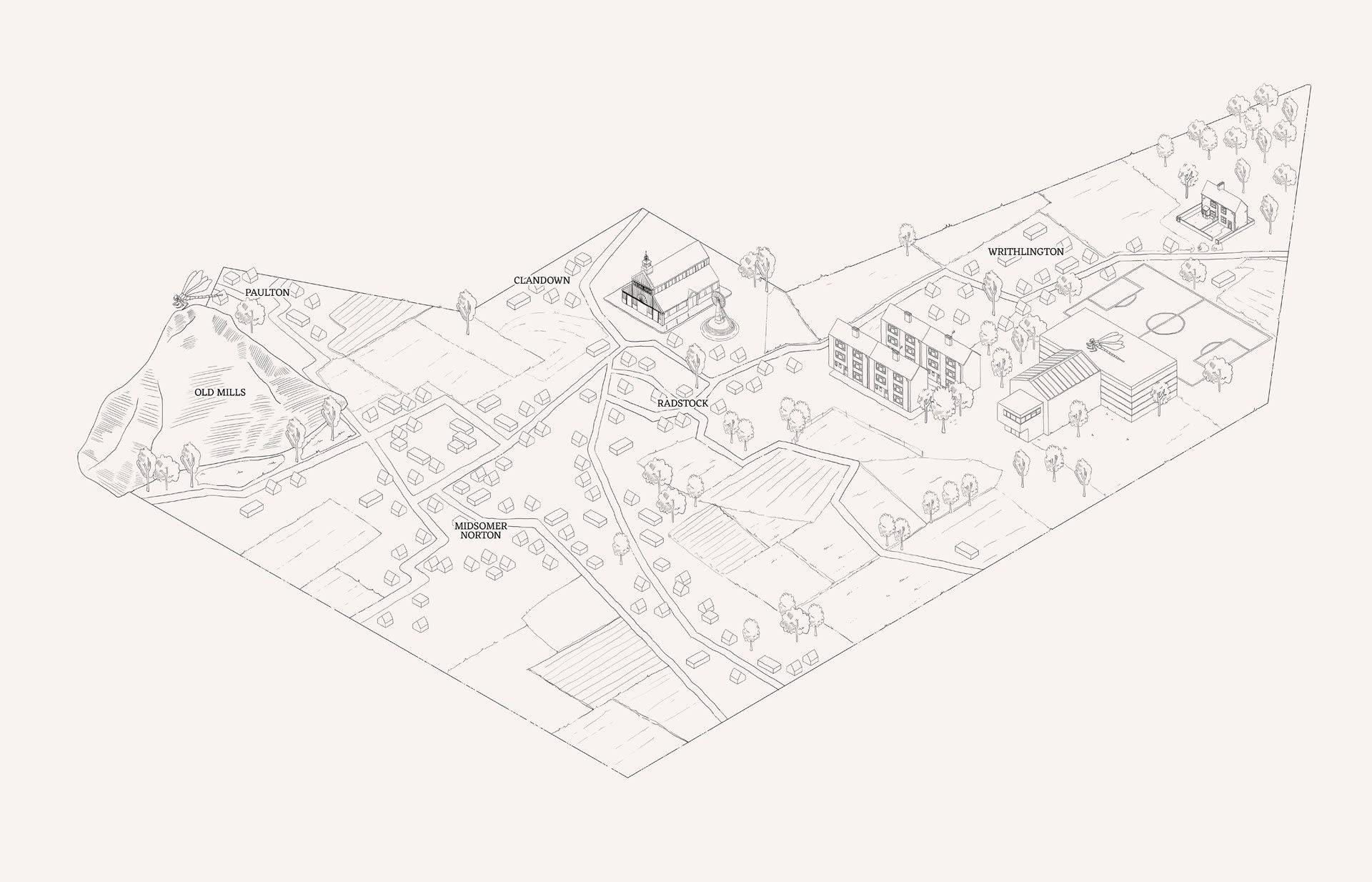 North Somerset Map by Juliette Coquet, 2020