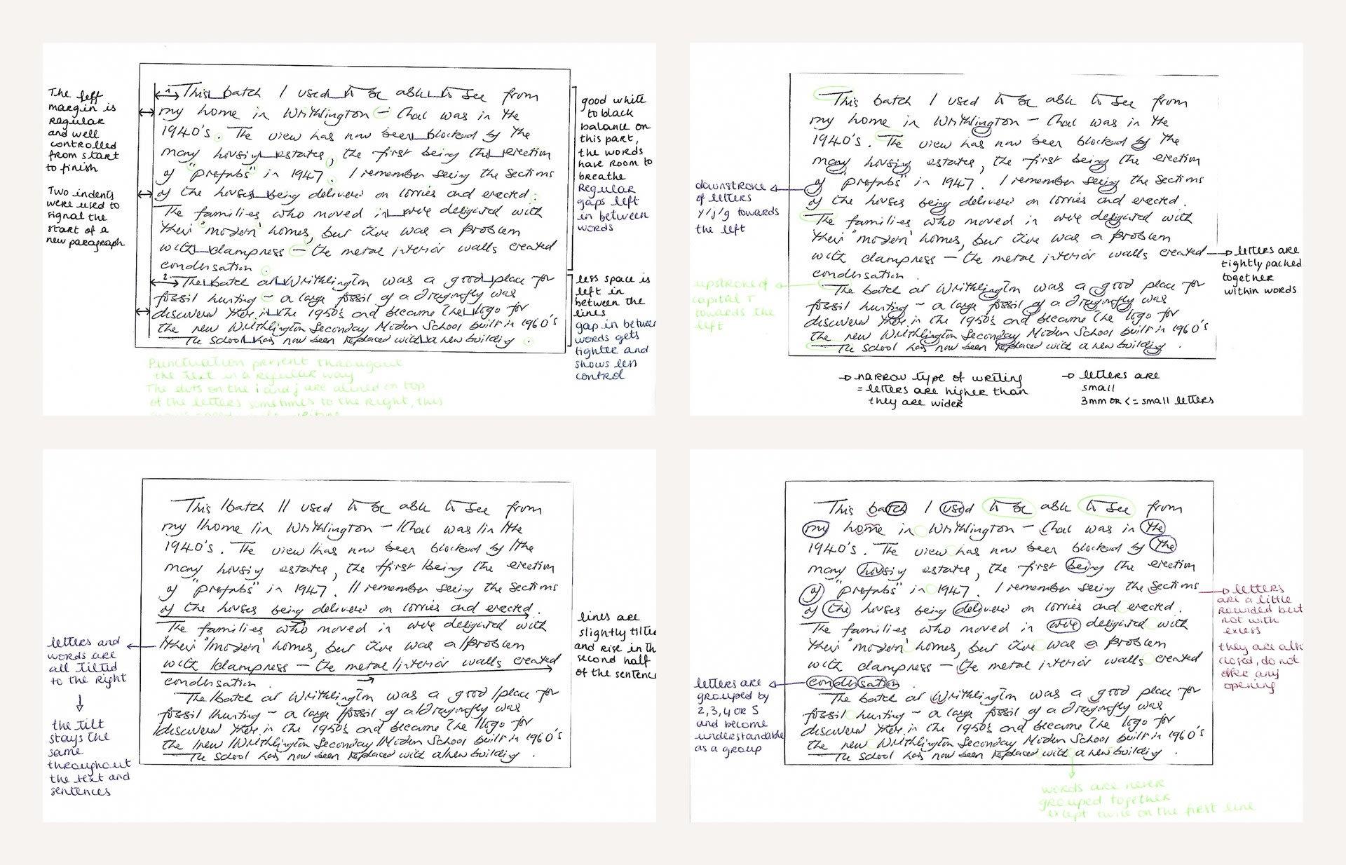 Analysis of a postcard using Crépieux Jamin's graphology method, 2020