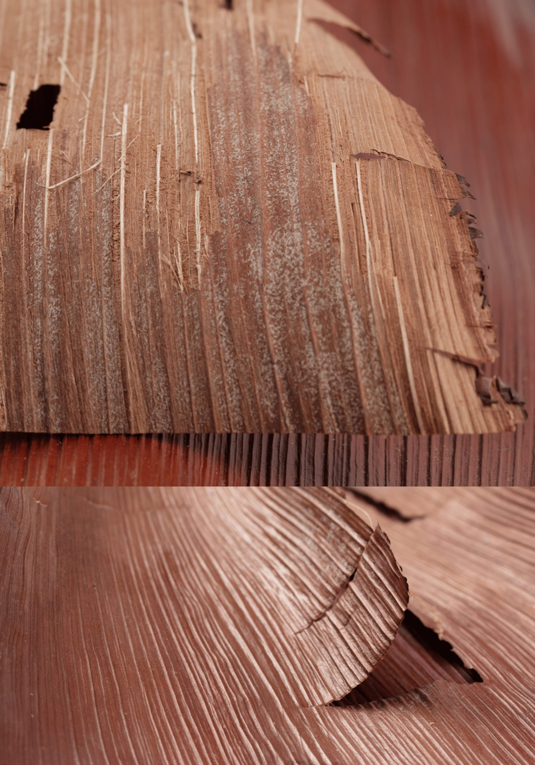 Fibrous, woody material