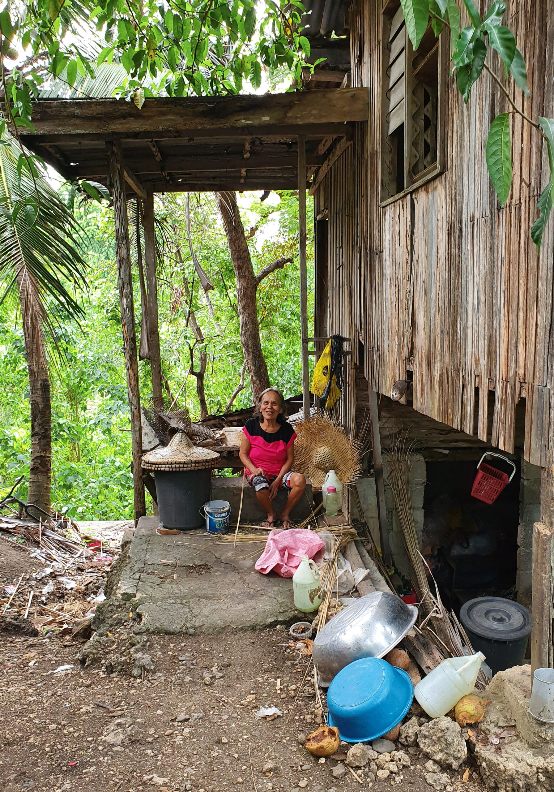 Rain hat maker, Cebu, the Philippines