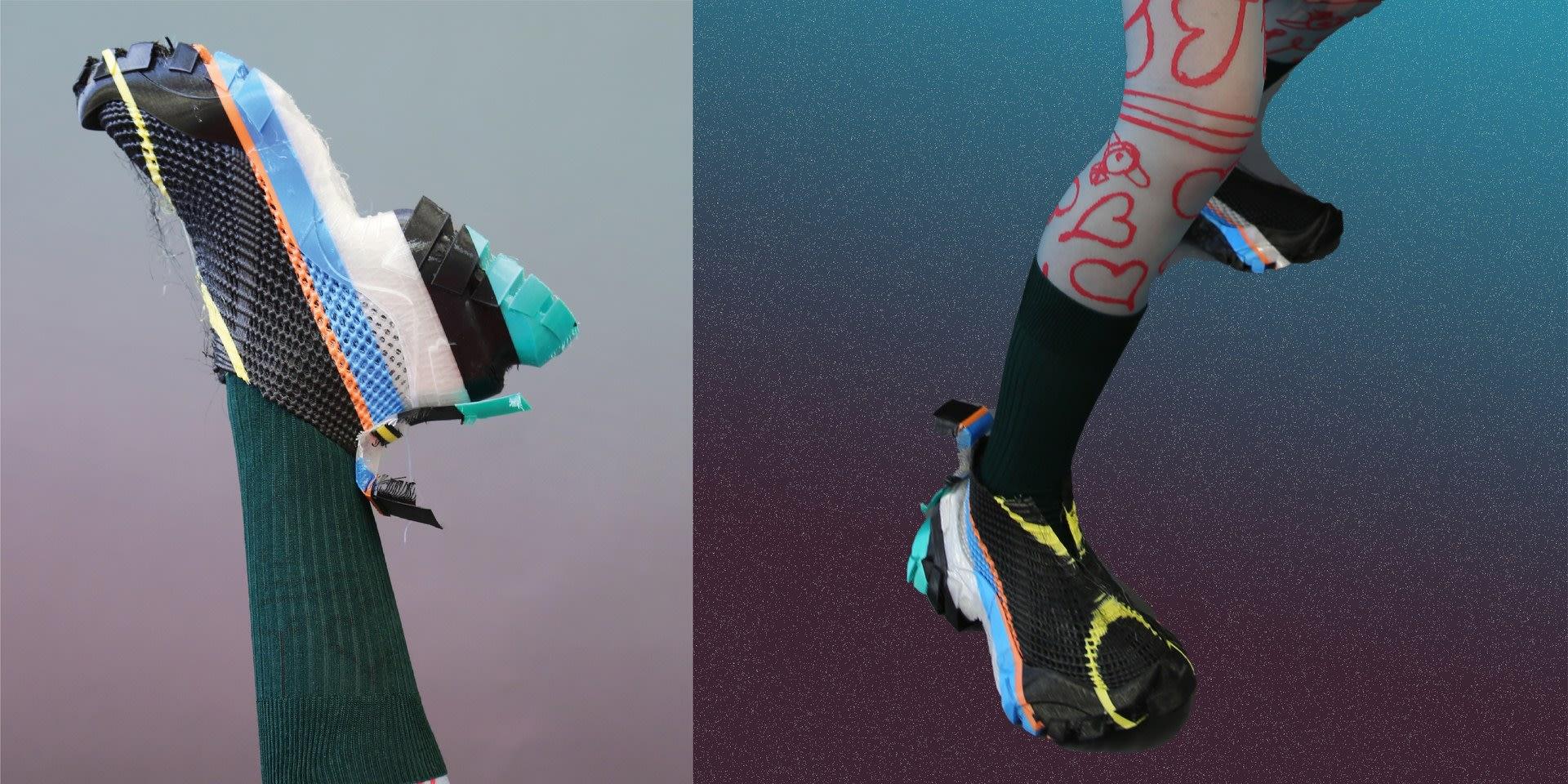 Multi-color 3d Printed TPU Sneaker