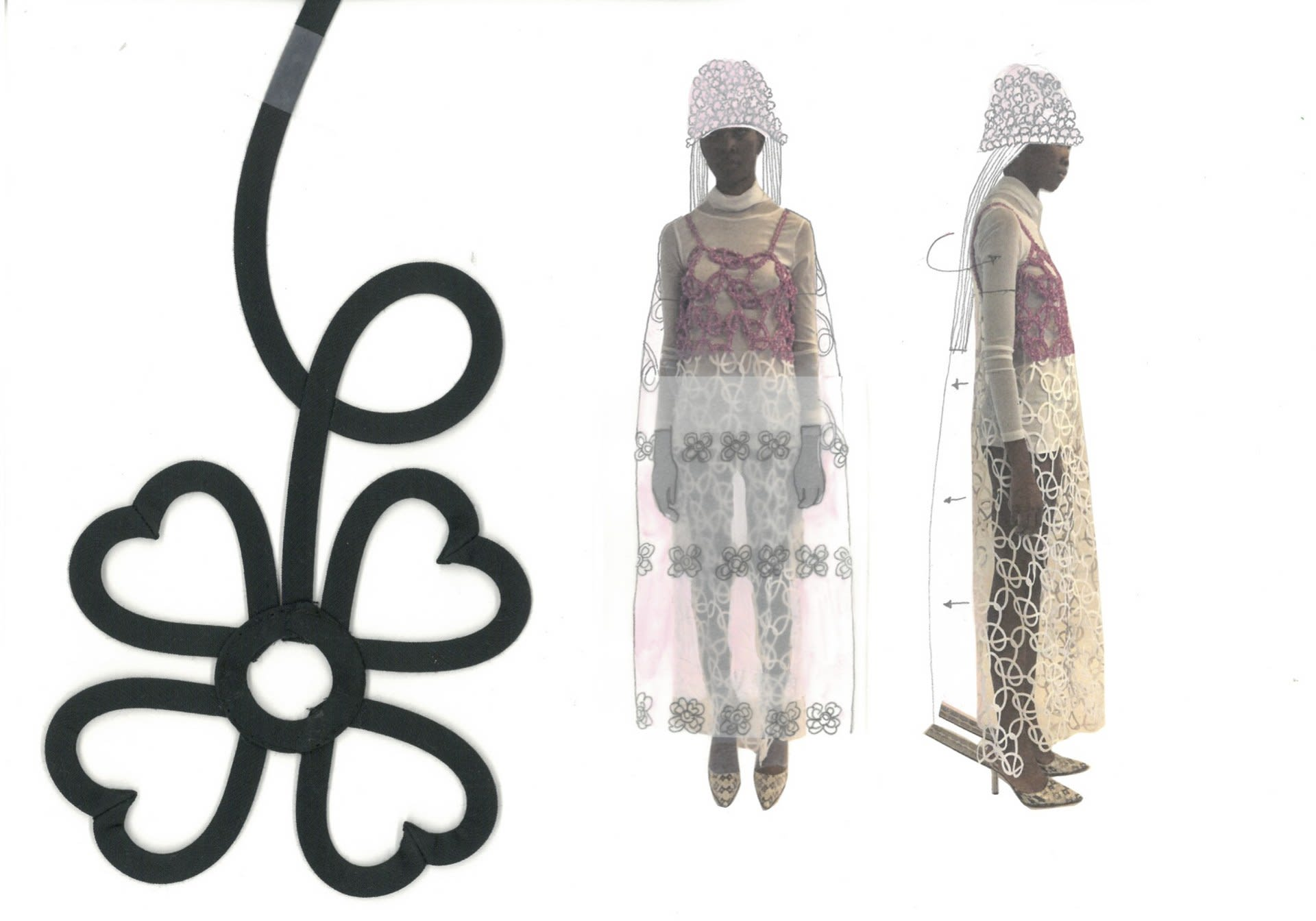 Look 06. Tape-Lace Dress